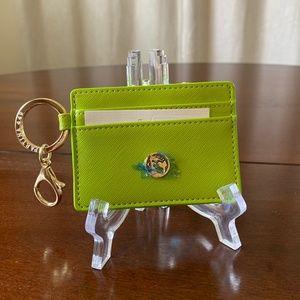 NWT - Lime Green Card Holder & Key Chain